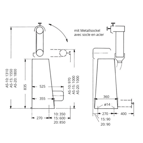 Bandschleifmaschinen Planskizze